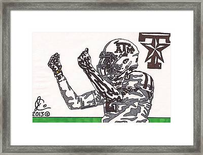 Johnny Manziel 10 Change The Play Framed Print by Jeremiah Colley