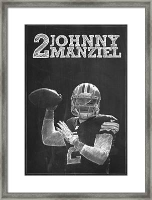 Johnny Manziel Framed Print by Semih Yurdabak