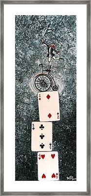 Joker 4 Framed Print by Graciela Bello
