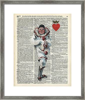 Joker From Playing Cards Framed Print by Jacob Kuch