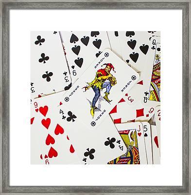 Joker In The Pack Framed Print by Martin Newman