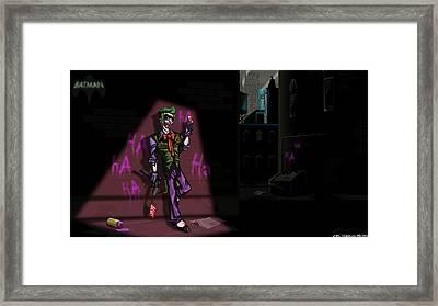 Joker Framed Print by Jason Diesbourg