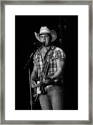 Jon Pardi Guitar Framed Print by Mike Burgquist