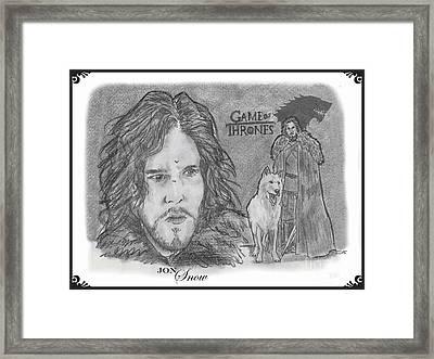 Jon Snow Framed Print by Chris  DelVecchio
