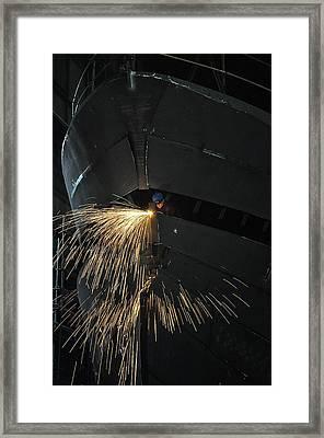 Jonah & The Whale Framed Print by Sylvain Viau