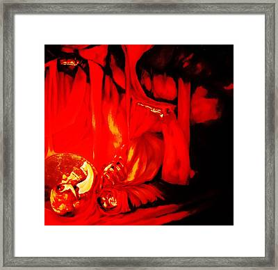 Jonah Inside The Whale-part 2 Framed Print by Kevin Davidson