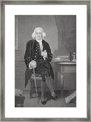 Jonathon Trumbull 1710-1785. Chief Framed Print by Vintage Design Pics