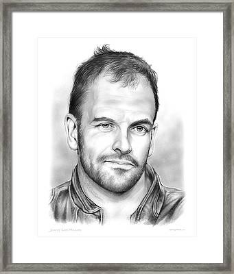 Jonny Lee Miller Framed Print by Greg Joens