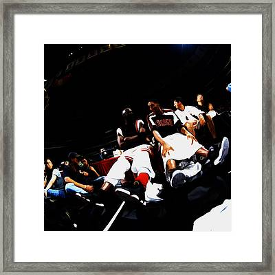 Jordan And Pippen Last Stand Framed Print by Brian Reaves