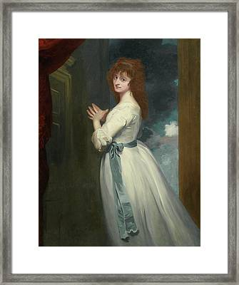 Jordan As Peggy In The Country Girl Framed Print by George Romney