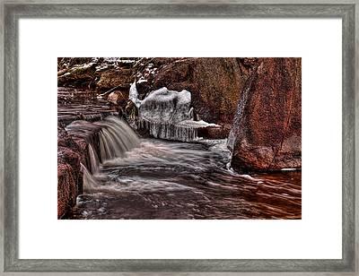 Jordan County Park Icy Flow Framed Print by Dale Kauzlaric