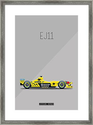 Jordan Honda Ej11 F1 Poster Framed Print by Beautify My Walls