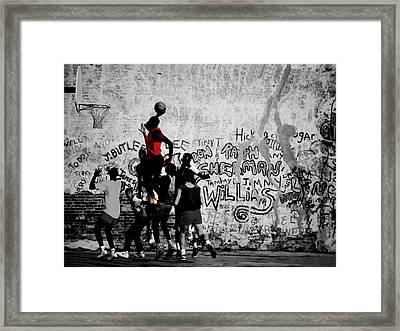 Jordan On The Playground Framed Print by Brian Reaves