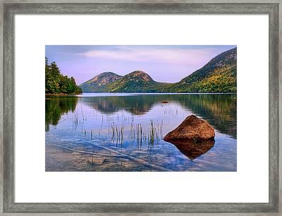 Jordan Pond In Acadia National Park Framed Print by Carolyn Derstine