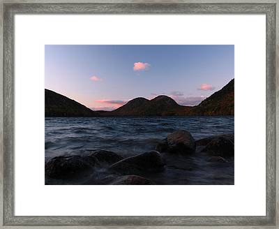 Jordan Pond Framed Print by Juergen Roth
