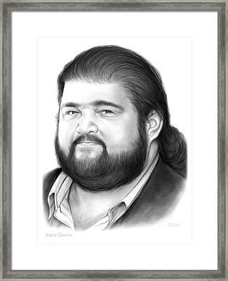 Jorge Garcia Framed Print by Greg Joens