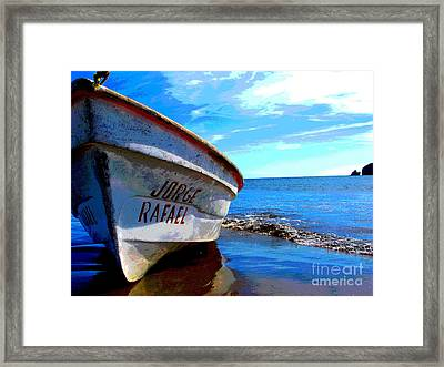 Jorge Rafael By Michael Fitzpatrick Framed Print by Mexicolors Art Photography