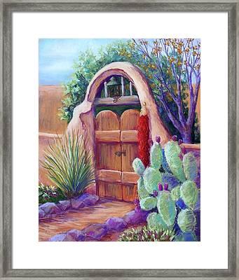 Josefina's Gate Framed Print by Candy Mayer