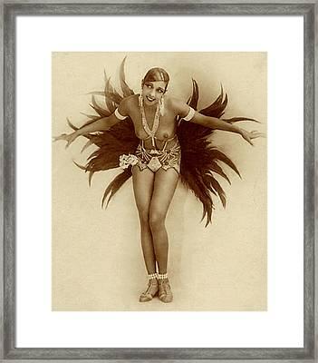 Josephine Baker Framed Print by Stanislaus Walery