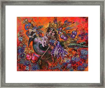 Journey On The Bird Framed Print by Maya Gusarina