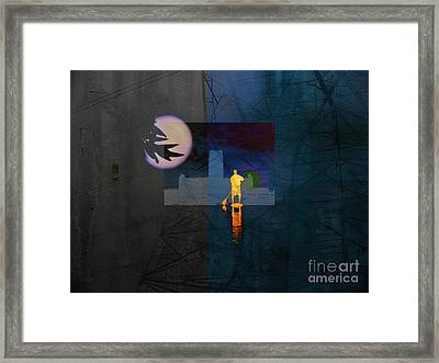 Journey Through Muddy Waters Framed Print by Robert Ball