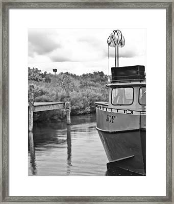 Joy In Leland Michigan Framed Print by Twenty Two North Photography