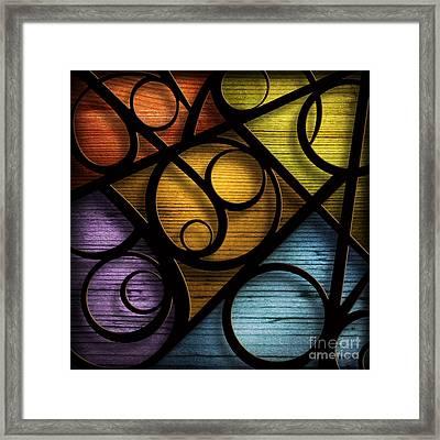 Joy-joy-joy-abstract Framed Print by Shevon Johnson