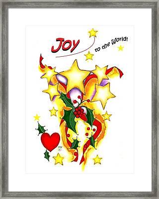 Joy To The World Framed Print by Melodye Whitaker