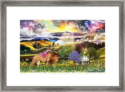 Joyful Journey  Framed Print by Dolores Develde