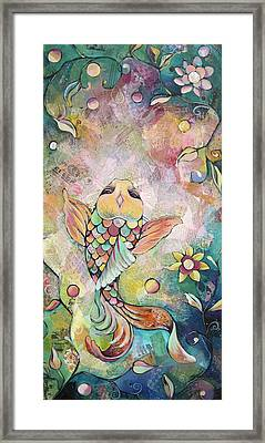 Joyful Koi I Framed Print by Shadia Derbyshire