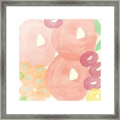 Joyful Rose Garden Framed Print by Linda Woods