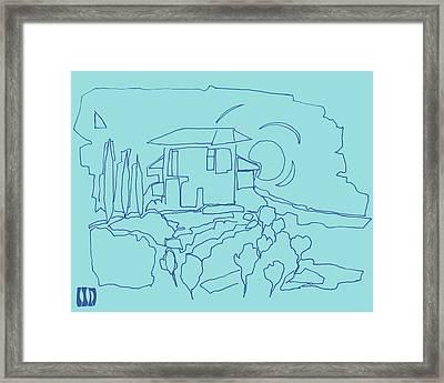 Joyful Sundown Limpit Shell Framed Print by CreativSOUP Dorothy Fagan