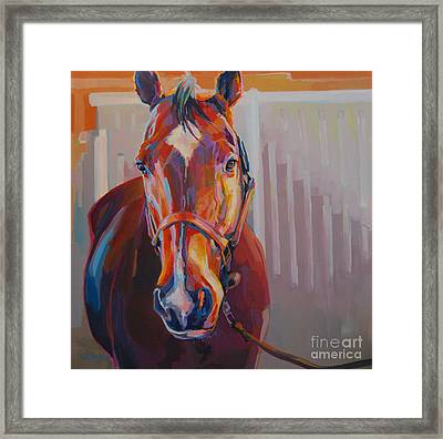JT Framed Print by Kimberly Santini