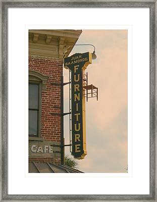 Juan's Furniture Store Framed Print by Robert Youmans