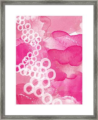 Jubilee- Abstract Art Framed Print by Linda Woods