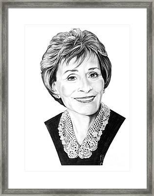 Judge Judith Sheindlin Framed Print by Murphy Elliott