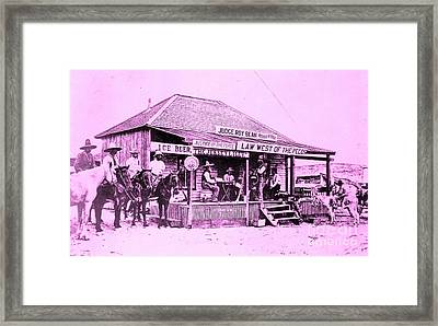 Judge Roy Bean - Law West Of The Pecos Framed Print by Roberto Prusso