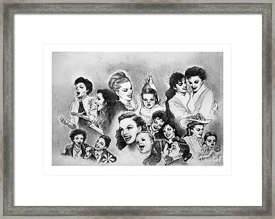 Judy And Liza Framed Print by Carl Wolfe