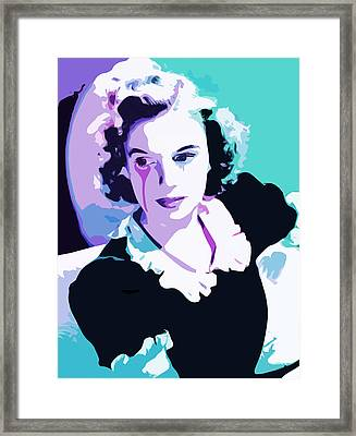 Judy Garland End Of The Rainbow Framed Print by Mal Bray
