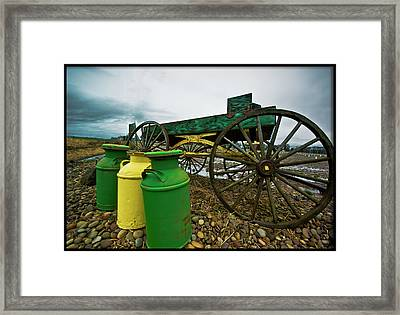 Jugs And Wagon Framed Print by Dale Stillman