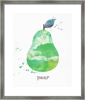 Juicy Pear Framed Print by Linda Woods