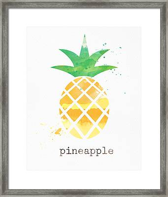 Juicy Pineapple Framed Print by Linda Woods