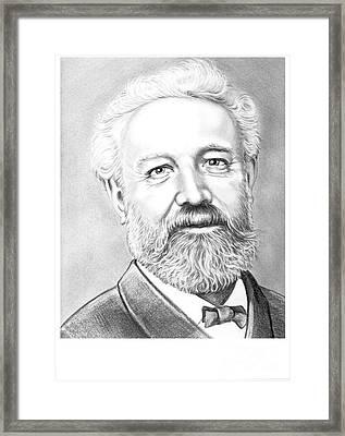 Jules Verne Framed Print by Murphy Elliott