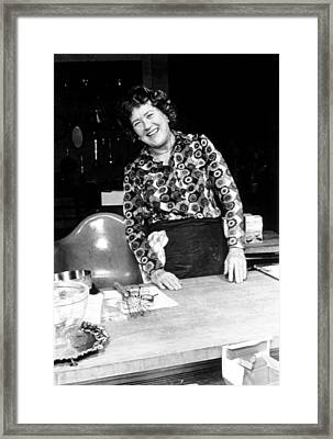 Julia Child, Ca. Early 1970s Framed Print by Everett