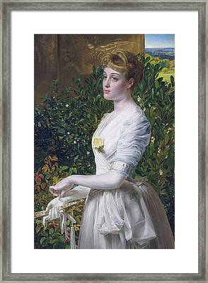 Julia Smith Caldwell Framed Print by Frederick Sandys