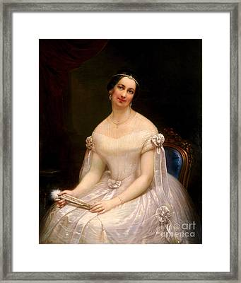 Julia Tyler, First Lady Framed Print by Science Source