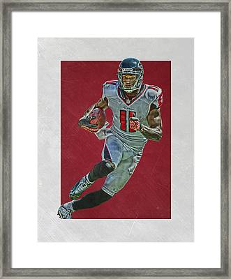 Julio Jones Atlanta Falcons Art 2 Framed Print by Joe Hamilton