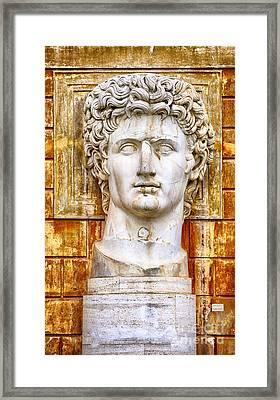 Julius Caesar At Vatican Museums 2 Framed Print by Stefano Senise