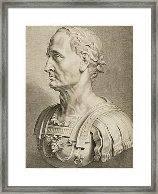 Julius Caesar Framed Print by Boetius Adams Bolswert