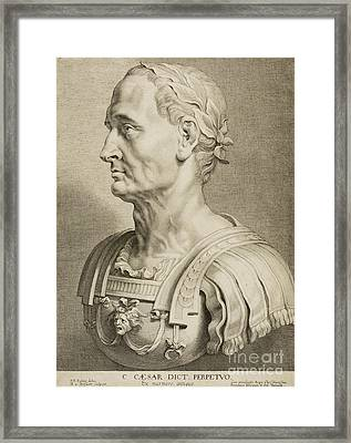 Julius Caesar Framed Print by Roman School